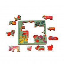 Puzzle en bois Animaux - Agent Paper