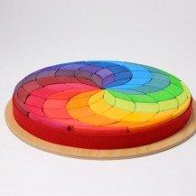 Puzzle grande spirale colorée - Grimm's