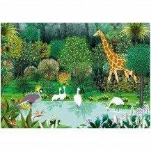 Puzzle en bois L'Oasis de Kirikou 24 pièces - Puzzles Michèle Wilson
