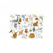 Puzzle en bois l'alphabet des animaux 12 pcs - Puzzles Michèle Wilson