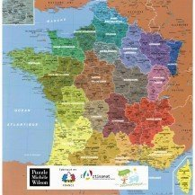 Puzzle carte de France 100 pcs - Michèle Wilson