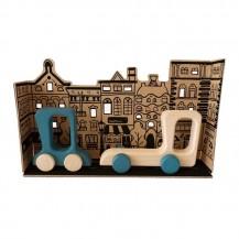 Road Stories - Camion et voiture en bois - bleu - Me & Mine