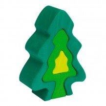 Sapin en bois vert - 6 pièces - Nic Toys