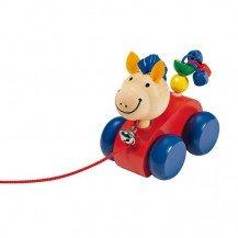 Lilli petit cheval en bois à trainer - Selecta