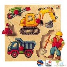 Puzzle en bois Le Chantier - Selecta