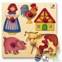 Puzzle en bois La Ferme - Selecta