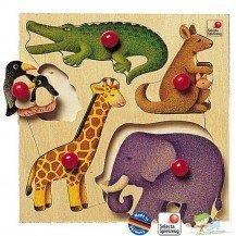 Puzzle en bois du Zoo - Selecta