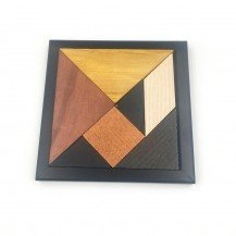 Tangram en bois naturel - Guy Jeandel