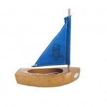 Thonier Petit Mousse 17 cm voile bleue - Bateaux Tirot