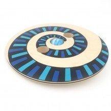 Toupie Disque en bois géante spirale bleue - Fabricant Européen