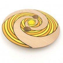 Toupie Disque en bois géante-spiral orange - Fabricant Européen