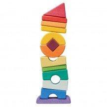 Tour penchée en bois - 13 pièces - Nic Toys