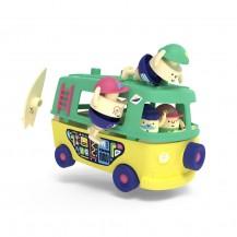 Le Van avec personnages et accessoires Les Mini Mondes - Les Mini Mondes