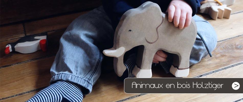 Découvrez notre sélection d'animaux en bois et figurines Holztiger