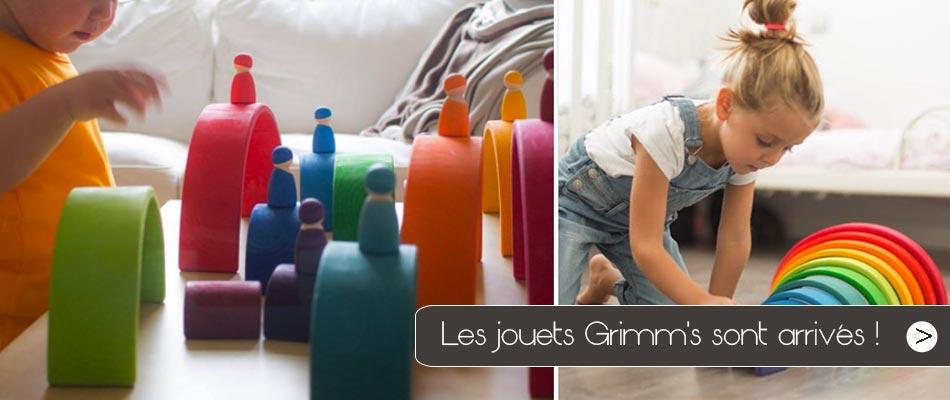 Les jouets Grimm's sont chez Jeujouethique